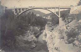 Slovenia - MOST NA SOČI St. Lucia Insonzothal - Railway Brodge - REAL PHOTO Publ. Max Helff - Eslovenia