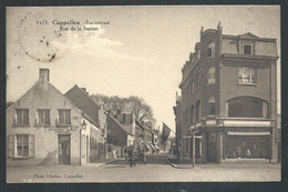 +++ CPA - KAPELLEN - CAPPELLEN - Statiestraat - Rue De La Station - Estaminet - Billard - Attelage   // - Kapellen