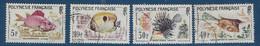 "Polynésie YT 18 à 21 "" Poissons "" 1962 Oblitéré - Polinesia Francese"
