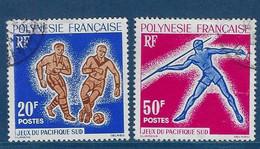 """Polynésie YT 22 & 23 """" Jeux Du Pacific-Sud """" 1963 Oblitéré - Polinesia Francese"""