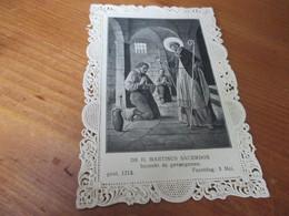 Holy Card Lace, Kanten Prentje, De H Mauritius - Devotion Images