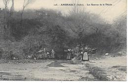36 - INDRE - AMBRAULT - LES SOURCES DE LA THEOLS - BELLE ANIMATION - G.G. CHATEAUROUX - TRES BON ETAT - Sonstige Gemeinden