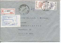 REF1987/ TP Baudouin Elström S/L.Recommandée C.St.Vith 21/3/79 étiquette Trilingue Absent > Eupen C.d'arrivée - Covers & Documents