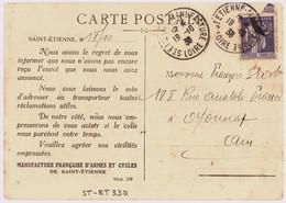 ST ETIENNE - MANUFACTURE LOIRE 1938 Daguin Jumelé R04C - Mechanische Stempels (varia)
