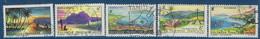 """Polynésie YT 30 à 34 """" Paysages """" 1964 Oblitéré - Polinesia Francese"""