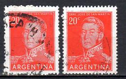 Argentine Oblitéré N° 546 2 Timbres Lot 82 - Usati