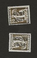 Belgique Preoblitéré N° 337 2 Timbres Lot 159 - Altri
