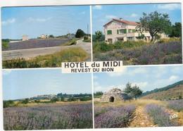 CP  Revest Du Bion Hôtel Du Midi  Vue Générale Multi Vues Multivues 04 Alpes De Haute Provence - Other Municipalities