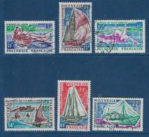 """Polynésie YT 36 à 41 """" Bateaux """" 1966 Oblitéré - Polinesia Francese"""