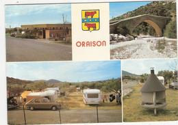 CP Oraison Vues Du Camping Et Du Pont Romain Multi Vues Multivues 04 Alpes De Haute Provence - Other Municipalities