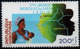 Gabon 1979, Scott 436, MNH, Medicine, Map - Gabon (1960-...)