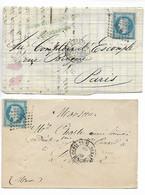 Ferroviaire Ambulant Nuit STRASBOURG à PARIS 2° Brigade D / G Sur 20c Empire Lauré 1869    ...G - Poste Ferroviaire