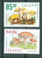 Iceland 2002; Mushrooms, Michel 1000-1001.** (MNH) - Nuovi
