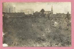 59 - WERVICQ-SUD - Carte Photo Allemande - Vue Générale - Soldat Allemand - Guerre 14/18 - 2 Scans - Andere Gemeenten