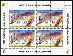 "TURKISH REP. OF NORTHERN CYPRUS/Zypern EUROPA 2019 ""National Birds"" Sheetlet** - 2019"