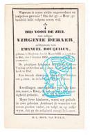 DP Virginie Debaer ° Heikruis Pepingen 1832 † Hal Halle 1863 X Emanuel Bouquiaux - Devotion Images