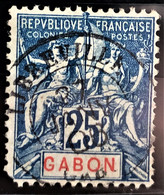 GABON 1904/07 - Canceled - YT 23 - 25c - Gebruikt
