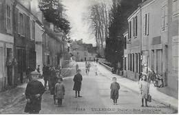 36 - INDRE - VILLEDIEU - RUE PRINCIPALE TRES ANIMEE - G.G. CHATEAUROUX - DOS VERT - 1910/15 - TRES BON ETAT - Sonstige Gemeinden
