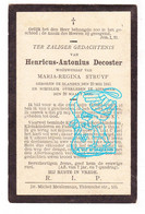 DP Henricus A. Decoster ° Blanden Oud-Heverlee 1845 † Bierbeek 1900 X Maria Regina Struyf - Andachtsbilder