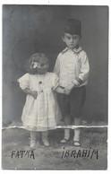 Fatma Et Ibrahim Enfants Du Prince Mirza Riza Khan,   Carte Photo,1907 écrite Par Ela Leur Mère . état Voir Scan - Personnes Identifiées