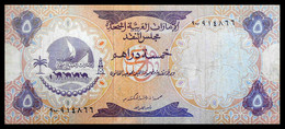 # # # Ältere Banknote Aus Den Vereinigten Emiraten (VAE) 5 Dirhams # # # - Ver. Arab. Emirate