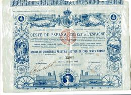 COMPANIA De Los FERROCARRILES Del OESTE De ESPANA - Railway & Tramway