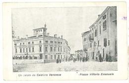 Cpa Italie - Un Saluto Da Caldiero Veronese - Piazza Vittorio Emanuele ( état , Plis ) - Andere