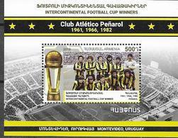 ARMENIA, 2019, MNH, SOCCER, FOOTBALL, FAMOUS CLUBS, PEÑAROL, INTERCONTINENTAL CUP WINNERS, S/SHEET - Club Mitici