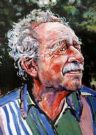 Portrait HARRY RANKIN Vancouver Lawyer Member City Council PAINTING Catherine Jones CANADA - Schilderijen