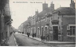 36 - INDRE - CHATEAUROUX - RUE DE STRASBOURG ANIMEE - PLAN PAS COURANT - EDIT. AU BELIER - Chateauroux