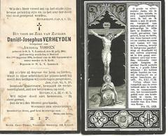 Lot De 2 Souvenirs Mortuaires Différents VERHEYDEN Daniël (1840-1894) Geboren Te ONZE-LIEVE-VROUW-LOMBEEK Overleden --> - Andachtsbilder