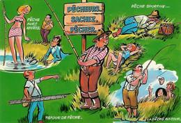 502 - Pêche  Pêcheurs... Sachez, Pêcher - Humor
