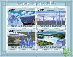Togo 2011 MNH - Renewable Energy. YT 2392-2395, Mi 3879-3882 - Togo (1960-...)