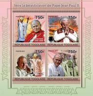 Togo 2011 MNH - Towards The Beatification Of Pope John Paul II. YT 2488-2491, Mi 3969-3972 - Togo (1960-...)