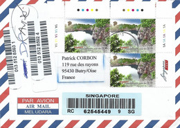 Singapore 2014 Granit Stone Quarry Pulau Ubin Island Registered Cover - Singapore (1959-...)