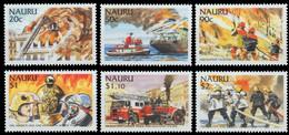 Nauru, 2002, Michel 536-542, International Firefighters, 6v, MNH - Firemen