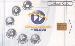 GUATEMALA - Linea Avanzada De Telgua, Chip GEM3.1, Used - Guatemala
