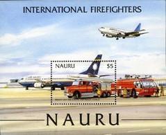 Nauru, 2002, Michel 536-542, International Firefighters, Block 35, MNH - Firemen