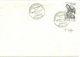 COUTELLERIE D'ART THIERS - CACHET 1er JOUR 7 MARS 1987 - SIGNATURE DU GRAVEUR P. LUBIN (YT N°2467) - Commemorative Postmarks