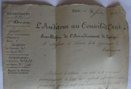 Italie – Le Pô - 1812 – Marque Rouge : Sous-Préfet Arrondissement Turin – Maire Balangero - 1. ...-1850 Prefilatelia