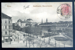 Cpa Autriche Graz -- Stadttheater , Bismarckplatz     AVR20-30 - Unclassified