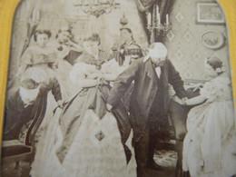 Photo Stéréoscopique  Colorisée Jeux Mariage - Stereoscopic