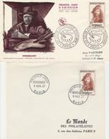 1135 FDC REMBRANDT - 2 Oblit. - Paris 9.11.57 - 1950-1959