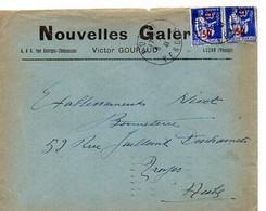 E 8 1940/45 Lettre A Entete Nouvelles Galeries A Luçon - Poststempel (Briefe)