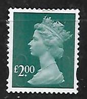 GB 2009 SECURITY MACHIN SA OFF PAPER £2 DEEP BLUE GREEN - Machins