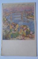 D174058  Hungary  Budapest  Gyelmis Lukács  Painting  Duna   Danube River Ca 1950 - Hungary