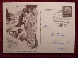 Dt Reich Ganzsache Drittes Reich Propagandakarte 1940 Im Kampf.. NARVIK O Metz - Stamped Stationery