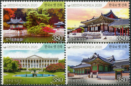 South Korea 2020. Royal Palaces (MNH OG) Block Of 4 Stamps - Korea (Süd-)