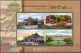 South Korea 2020. Royal Palaces (MNH OG) Souvenir Sheet - Corée Du Sud