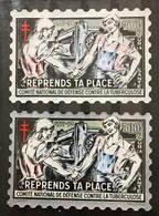 2 VIGNETTES 1957 GRAND FORMAT 200 F Et 500 F - MH - LUXE - Tegen Tuberculose